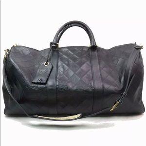 Chanel lambskin Boston Bag bicolor black 324350